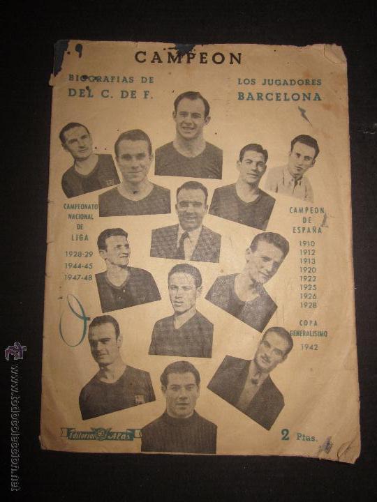 BIOGRAFIAS DE LOS JUGADORES DEL C.F.BARCELONA- CAMPEON CAMPEONATO NACIONAL DE LIGA 1947-48-ED. ALAS (Coleccionismo Deportivo - Libros de Fútbol)
