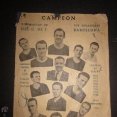 Coleccionismo deportivo: BIOGRAFIAS DE LOS JUGADORES DEL C.F.BARCELONA- CAMPEON CAMPEONATO NACIONAL DE LIGA 1947-48-ED. ALAS. Lote 44378351