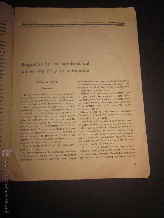 Coleccionismo deportivo: BIOGRAFIAS DE LOS JUGADORES DEL C.F.BARCELONA- CAMPEON CAMPEONATO NACIONAL DE LIGA 1947-48-ED. ALAS - Foto 2 - 44378351