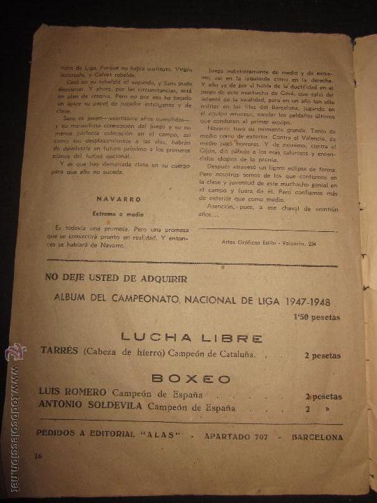 Coleccionismo deportivo: BIOGRAFIAS DE LOS JUGADORES DEL C.F.BARCELONA- CAMPEON CAMPEONATO NACIONAL DE LIGA 1947-48-ED. ALAS - Foto 4 - 44378351
