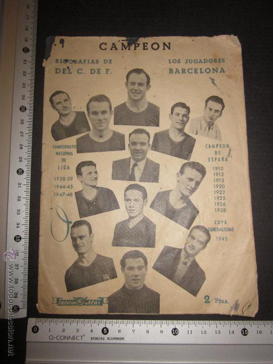 Coleccionismo deportivo: BIOGRAFIAS DE LOS JUGADORES DEL C.F.BARCELONA- CAMPEON CAMPEONATO NACIONAL DE LIGA 1947-48-ED. ALAS - Foto 6 - 44378351