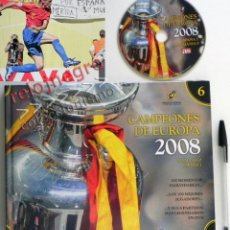 Coleccionismo deportivo: CAMPEONES DE EUROPA 2008 DVD + LIBRO SELECCIÓN ESPAÑOLA FÚTBOL EUROCOPA FOTOS FINAL ESPAÑA ALEMANIA. Lote 62996522