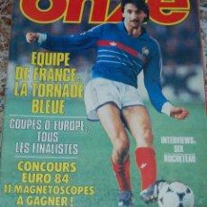 Coleccionismo deportivo: REVISTA FRANCESA FUTBOL ONZE Nº 101 MAYO1984. Lote 45501149
