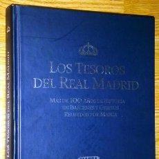 Coleccionismo deportivo: ALBUM LOS TESOROS DEL REAL MADRID POR JUAN IGNACIO GALLARDO DEL DIARIO MARCA EN NAVARRA 2007. Lote 45852077