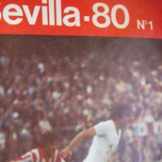 Coleccionismo deportivo: SEVILLA CLUB DE FUTBOL.SEVILLA 80.Nº 1 24 PG FOTOS. Lote 45921935