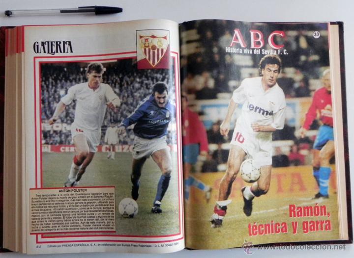Coleccionismo deportivo: HISTORIA VIVA DEL SEVILLA FC - ABC FOTOS HISTÓRICAS FÚTBOL CLUB JUGADORES DATOS SFC - DEPORTE LIBRO - Foto 2 - 46640248
