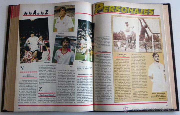 Coleccionismo deportivo: HISTORIA VIVA DEL SEVILLA FC - ABC FOTOS HISTÓRICAS FÚTBOL CLUB JUGADORES DATOS SFC - DEPORTE LIBRO - Foto 8 - 46640248