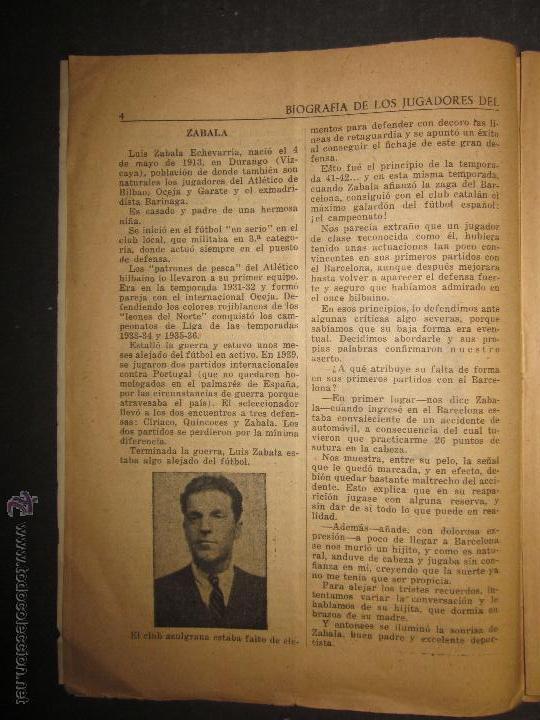 Coleccionismo deportivo: F.C.BARCELONA- BIOGRAFIA JUGADORES NOGUES, MIRO,RAICH, ROSALEN,MARTIN , ESCOLA...AÑOS 40-(CD-1287) - Foto 5 - 46992345