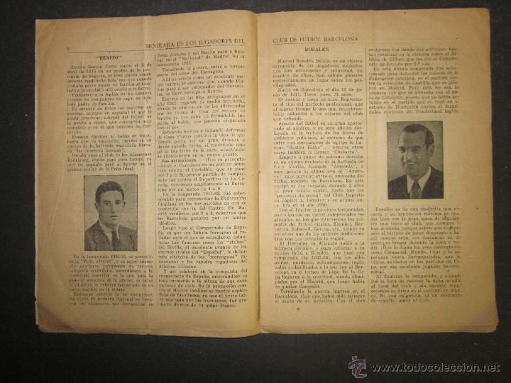 Coleccionismo deportivo: F.C.BARCELONA- BIOGRAFIA JUGADORES NOGUES, MIRO,RAICH, ROSALEN,MARTIN , ESCOLA...AÑOS 40-(CD-1287) - Foto 7 - 46992345