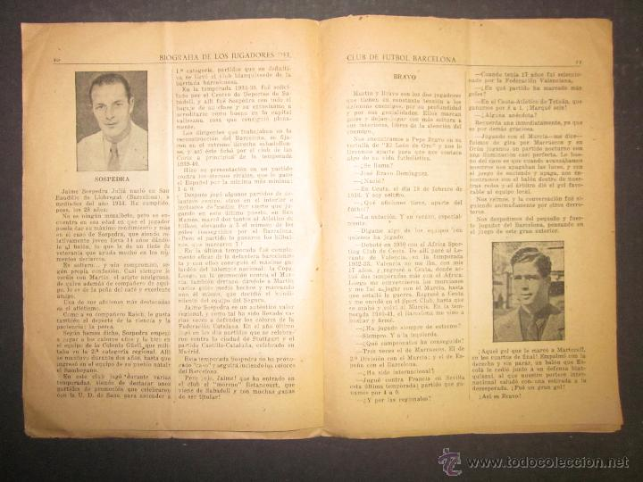 Coleccionismo deportivo: F.C.BARCELONA- BIOGRAFIA JUGADORES NOGUES, MIRO,RAICH, ROSALEN,MARTIN , ESCOLA...AÑOS 40-(CD-1287) - Foto 10 - 46992345