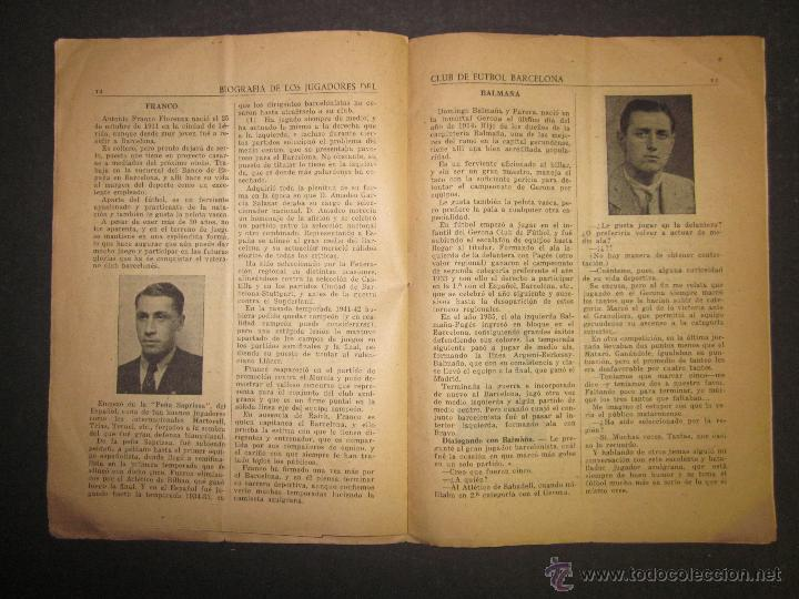 Coleccionismo deportivo: F.C.BARCELONA- BIOGRAFIA JUGADORES NOGUES, MIRO,RAICH, ROSALEN,MARTIN , ESCOLA...AÑOS 40-(CD-1287) - Foto 11 - 46992345