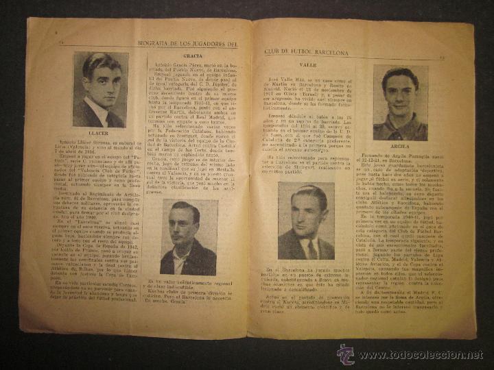 Coleccionismo deportivo: F.C.BARCELONA- BIOGRAFIA JUGADORES NOGUES, MIRO,RAICH, ROSALEN,MARTIN , ESCOLA...AÑOS 40-(CD-1287) - Foto 12 - 46992345