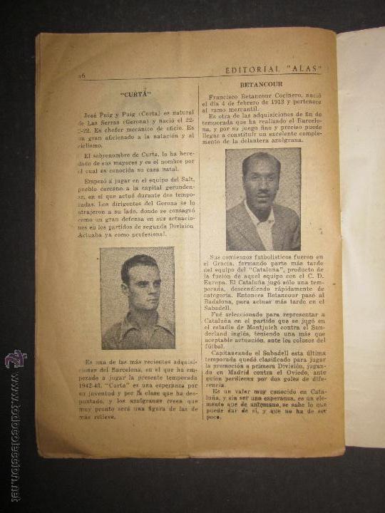 Coleccionismo deportivo: F.C.BARCELONA- BIOGRAFIA JUGADORES NOGUES, MIRO,RAICH, ROSALEN,MARTIN , ESCOLA...AÑOS 40-(CD-1287) - Foto 13 - 46992345