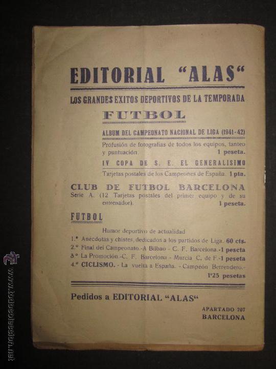 Coleccionismo deportivo: F.C.BARCELONA- BIOGRAFIA JUGADORES NOGUES, MIRO,RAICH, ROSALEN,MARTIN , ESCOLA...AÑOS 40-(CD-1287) - Foto 14 - 46992345