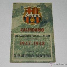 CF BARCELONA - CALENDARIO 1947 - 1948, CAMPEONATO NACIONAL DE LIGA , ESTAN APUNTADOS LOS RESULTADOS