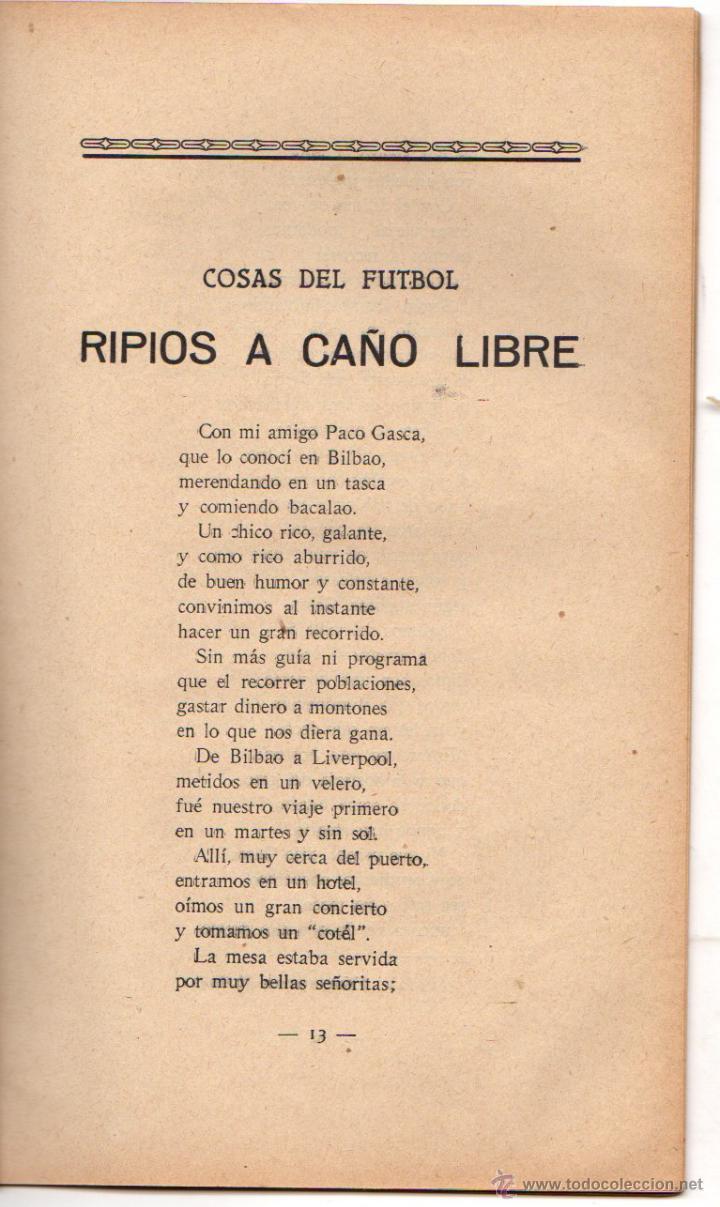 Coleccionismo deportivo: COSAS DE FUTBOL. RIPIOS A CAÑO LIBRE. POESIA. AÑOS 30 - Foto 2 - 47739132