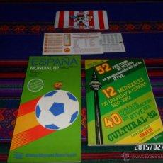 Coleccionismo deportivo: MUNDIAL ESPAÑA 82 GUÍA ESPECTADOR TURÍSTICA OFICIAL CALENDARIO IDEAGRAF PEGATINA SPORTING GIJÓN. BE.. Lote 47952151
