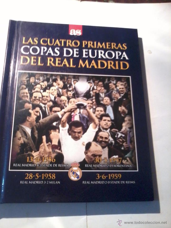 LAS CUATRO PRIMERAS COPAS DE EUROPA DEL REAL MADRID. LIBRO CON DVD. EST12B6 (Coleccionismo Deportivo - Libros de Fútbol)