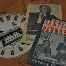 Coleccionismo deportivo: DISCO DE VINILO CON EL HIMNO DEL REAL MADRID Y LIBROS BIOGRAÍA DE SANTIAGO BERNABEU *. Lote 49193967