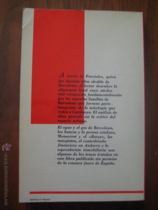 Coleccionismo deportivo: LOS NEGOCIOS DE PORCIOLES - LAS SAGRADAS FAMILIAS DE BARCELONA - JESUS YNFANTE - ESCUDO BARÇA - Foto 2 - 49264378
