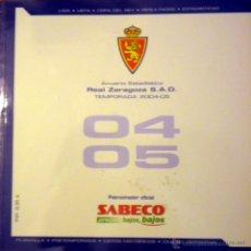 Coleccionismo deportivo: ANUARIO REAL ZARAGOZA TEMPORADA 2004-05 ANDER HERRERA PABLO ALCOLEA ALVARO TIERNO. Lote 49362018