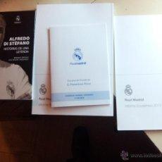 Coleccionismo deportivo: LOTE : LIBRO ALFREDO DI STÉFANO, HISTORIA DE UNA LEYENDA + INFORME ANUAL REAL MADRID 2015 . Lote 49406031