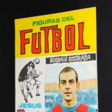 Coleccionismo deportivo: REVISTA FIGURAS DEL FUTBOL BIOGRAFIA ILUSTRADA JESUS PEREDA JUGADOR F. C. BARCELONA. Lote 50235280