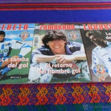 Coleccionismo deportivo: BEBETO LA SAMBA GOL. LAUDRUP LA MAGIA DEL FÚTBOL ZAMORANO RETORNO HOMBRE GOL HIERRO GOLEADOR DEFENSA. Lote 51729077