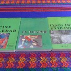Coleccionismo deportivo: ED. DON BALÓN NOVELAS DEPORTIVAS 1 3 4 CINCO DÍAS EN OLIMPIA CINE SOLEDAD EL OJEADOR 1992 RAROS MBE. Lote 51729181