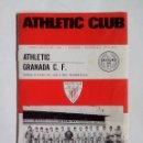 Coleccionismo deportivo: PROGRAMA OFICIAL ATHLETIC - GRANADA 1972 FOTO JAVIER CLEMENTE. Lote 52603125