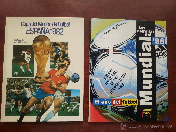 COPA DEL MUNDO DE FUTBOL ESPAÑA 1982 +LIBRO DE LAS ESTRELLAS MUNDAL DE FUTBOL 1998 (Coleccionismo Deportivo - Libros de Fútbol)