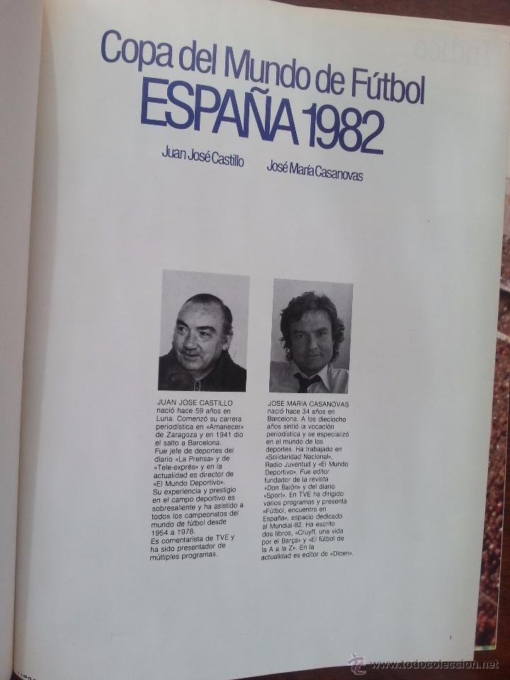 Coleccionismo deportivo: COPA DEL MUNDO DE FUTBOL ESPAÑA 1982 +LIBRO DE LAS ESTRELLAS MUNDAL DE FUTBOL 1998 - Foto 3 - 52909703