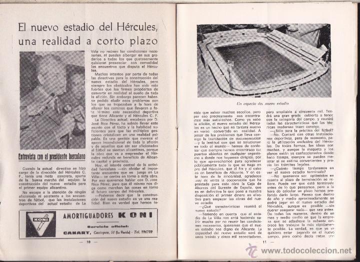Coleccionismo deportivo: ALICANTE - HERCULES C.F. PUBLICACION INFORMATIVA , HERCULES C. F. - R. VALLADOLID - Foto 3 - 53301016