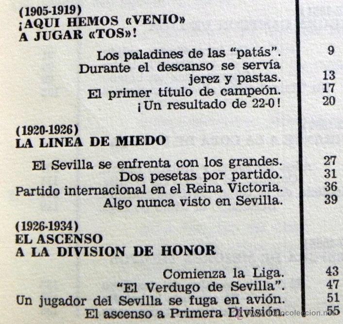 Coleccionismo deportivo: HISTORIA DEL SEVILLA C DE F - LIBRO SEVILLA FC FÚTBOL CLUB - DEPORTE FOTOS SFC - JR AGUILAR BRUGUERA - Foto 2 - 53651842