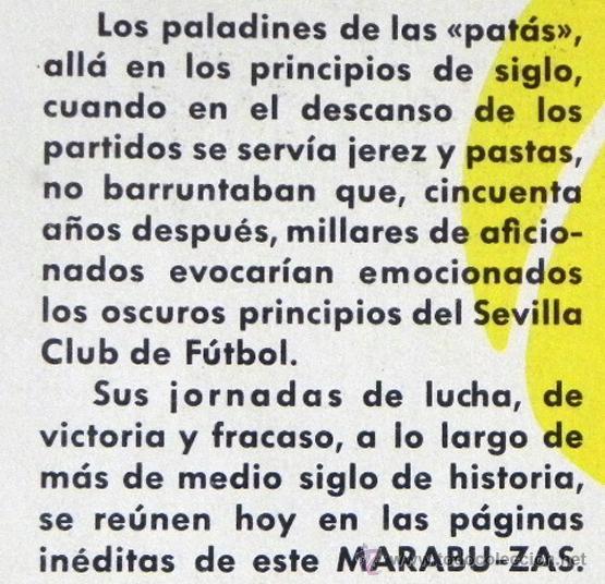 Coleccionismo deportivo: HISTORIA DEL SEVILLA C DE F - LIBRO SEVILLA FC FÚTBOL CLUB - DEPORTE FOTOS SFC - JR AGUILAR BRUGUERA - Foto 4 - 53651842