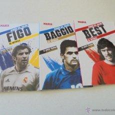 Coleccionismo deportivo: GENIOS DEL BALÓN AL DETALLE-FIGO, BAGGIO, BEST.- MARCA.-2012. Lote 53693079