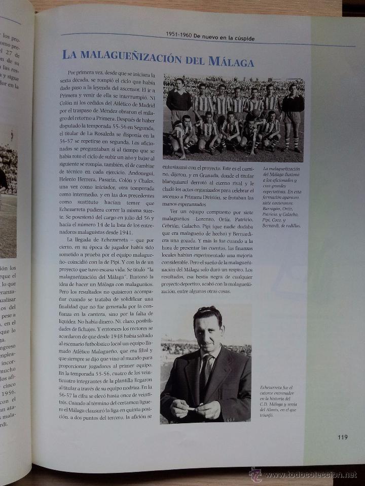Coleccionismo deportivo: UN SIGLO DE DEPORTE EN MALAGA - MANUEL CASTILLO Y JUAN CORTES - PERIODICO EL SUR - ENCUADERNADO - Foto 4 - 53930451