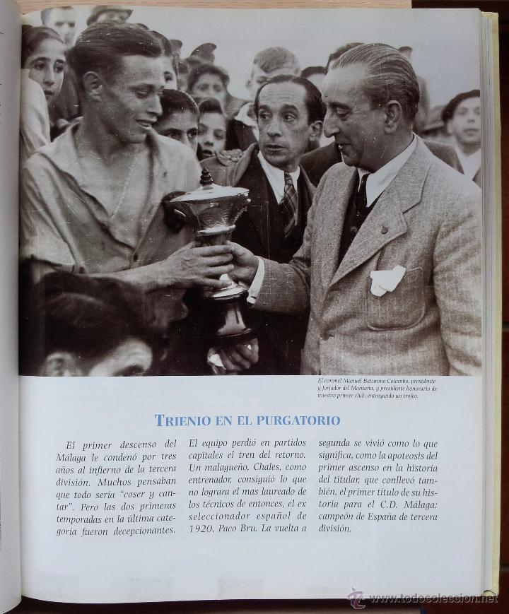 Coleccionismo deportivo: UN SIGLO DE DEPORTE EN MALAGA - MANUEL CASTILLO Y JUAN CORTES - PERIODICO EL SUR - ENCUADERNADO - Foto 5 - 53930451