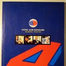 Coleccionismo deportivo: FUTBOL CLUB BARCELONA. MEMÒRIA 1998/1999 - FOTOGRAFIES. Lote 29458670