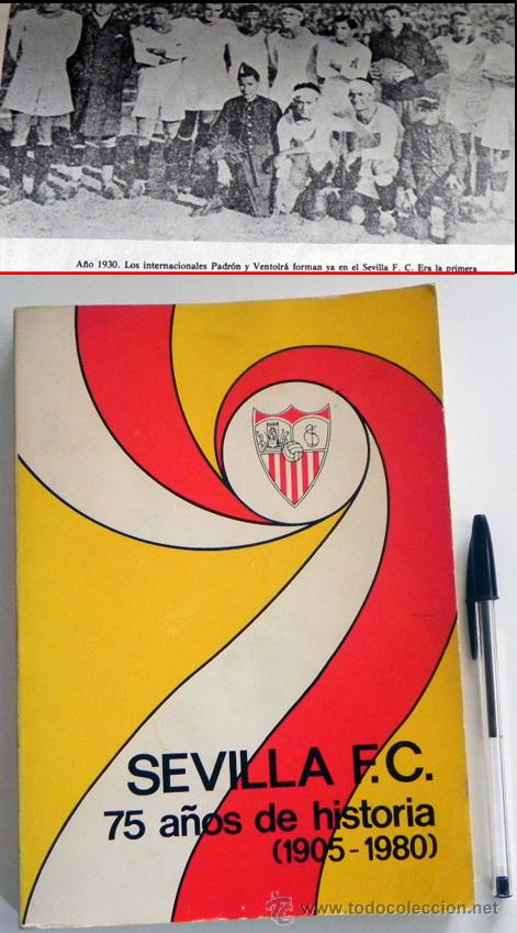 SEVILLA FC 75 AÑOS DE HISTORIA 1905 1980 LIBRO MUCHAS FOTOS DATOS FÚTBOL CLUB SEVILLISMO DEPORTE SFC (Coleccionismo Deportivo - Libros de Fútbol)