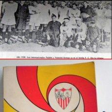 Coleccionismo deportivo: SEVILLA FC 75 AÑOS DE HISTORIA 1905 1980 LIBRO MUCHAS FOTOS DATOS FÚTBOL CLUB SEVILLISMO DEPORTE SFC. Lote 54316079