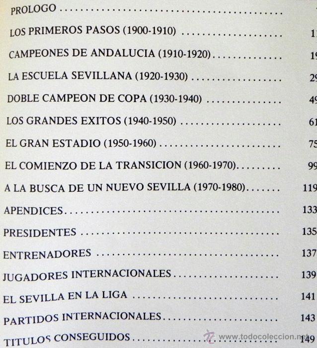 Coleccionismo deportivo: SEVILLA FC 75 AÑOS DE HISTORIA 1905 1980 LIBRO MUCHAS FOTOS DATOS FÚTBOL CLUB SEVILLISMO DEPORTE SFC - Foto 2 - 54316079