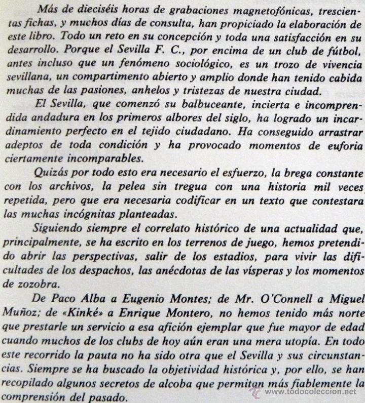 Coleccionismo deportivo: SEVILLA FC 75 AÑOS DE HISTORIA 1905 1980 LIBRO MUCHAS FOTOS DATOS FÚTBOL CLUB SEVILLISMO DEPORTE SFC - Foto 3 - 54316079