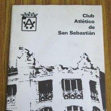 Coleccionismo deportivo: CLUB ATLÉTICO DE SAN SEBASTIAN. Lote 54679463