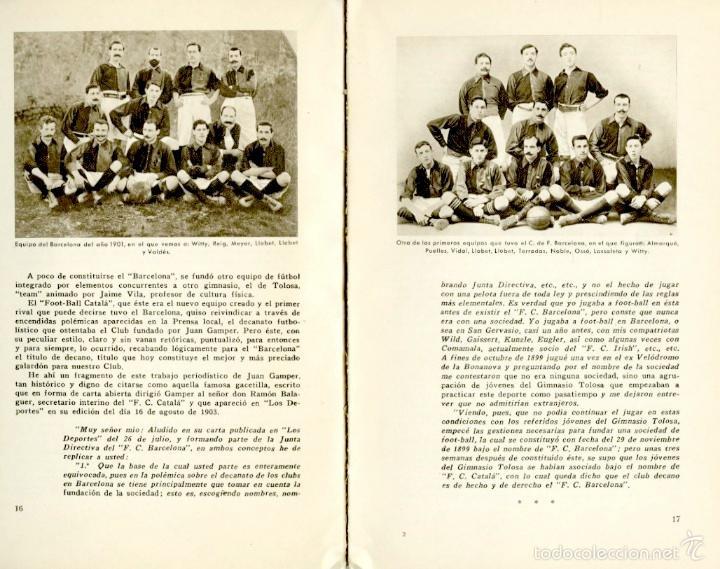 Coleccionismo deportivo: Libro conmemorativo del 50 aniversario del Club de Fútbol Barcelona, 1949 - Foto 2 - 55717964