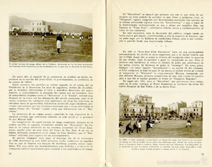 Coleccionismo deportivo: Libro conmemorativo del 50 aniversario del Club de Fútbol Barcelona, 1949 - Foto 3 - 55717964