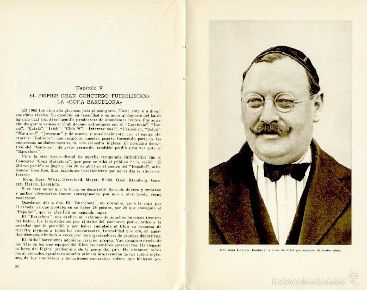 Coleccionismo deportivo: Libro conmemorativo del 50 aniversario del Club de Fútbol Barcelona, 1949 - Foto 4 - 55717964
