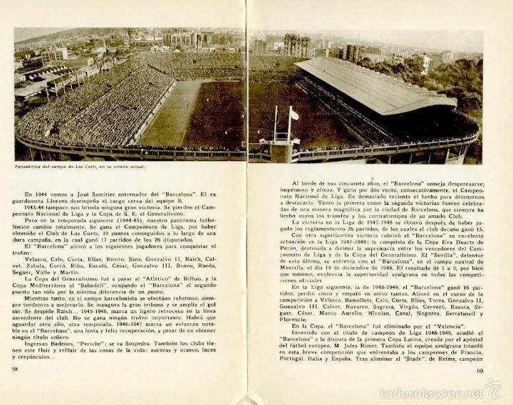 Coleccionismo deportivo: Libro conmemorativo del 50 aniversario del Club de Fútbol Barcelona, 1949 - Foto 5 - 55717964