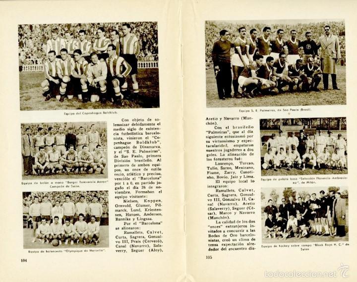 Coleccionismo deportivo: Libro conmemorativo del 50 aniversario del Club de Fútbol Barcelona, 1949 - Foto 6 - 55717964