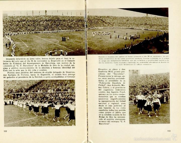 Coleccionismo deportivo: Libro conmemorativo del 50 aniversario del Club de Fútbol Barcelona, 1949 - Foto 7 - 55717964